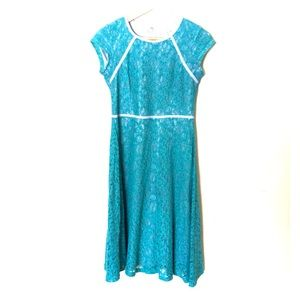 Down East teal lace dress